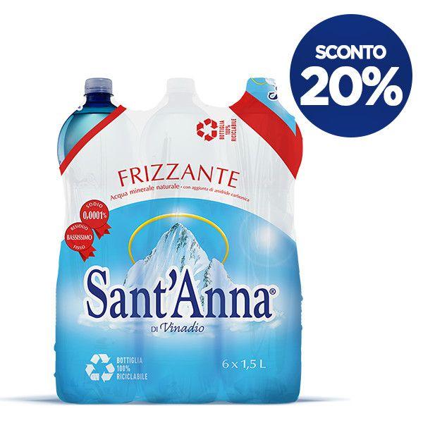 Acqua Sant'Anna 1,5 L confezione x6 frizzante