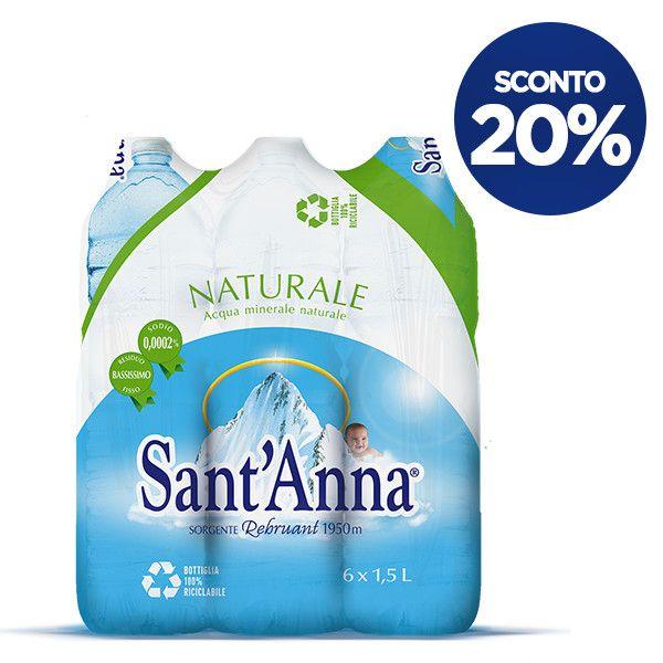 Acqua Sant'Anna 1,5 L confezione x6 naturale