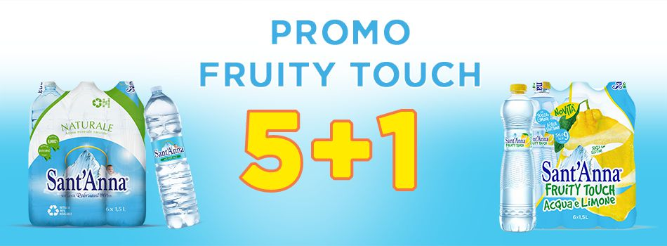 Banner promo Fruity Touch 5+1