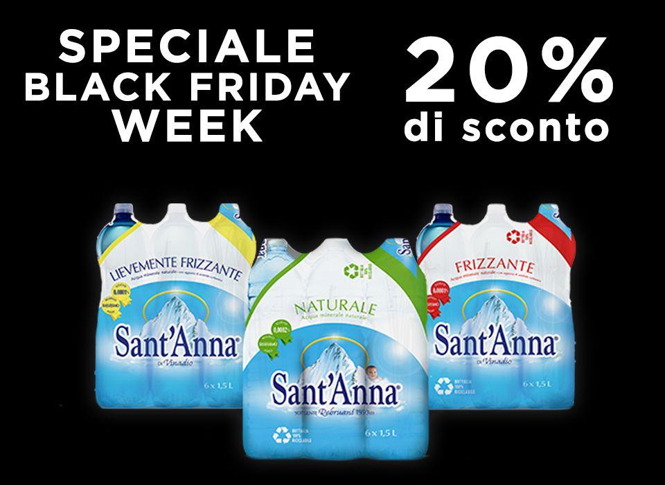 Black Friday Week Sant'Anna 2020 offerta 20%