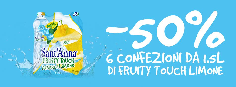 Fruity Touch speciale sconto 50% banner