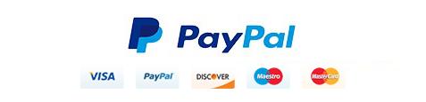 100% pagamenti sicuri con Paypal e Amazon pay